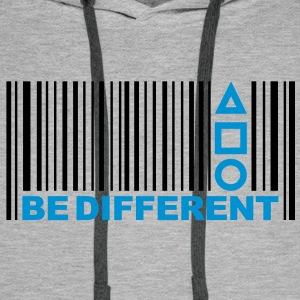 Be Different - Barcode - Strichcode - Symbole Pullover - Männer Premium Hoodie