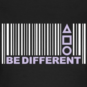 Be Different - Være anderledes - Barcode - Stregkode T-shirts - Dame-T-shirt