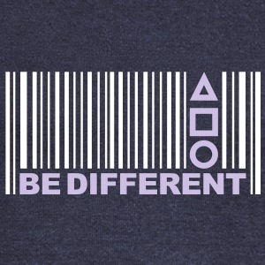 Be Different - Barcode - Simboli - Codice a barre Felpe - Felpa con scollo a barca da donna, marca Bella