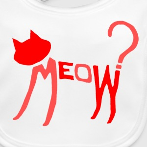 Meow? (Red 2-Tone) Accessories - Baby Organic Bib