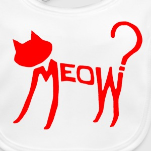Meow? (Red) Accessories - Baby Organic Bib