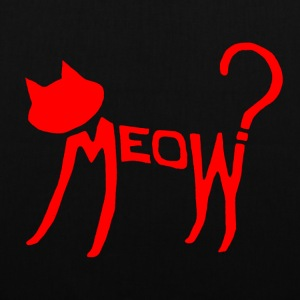 Meow? (Red) Bags  - Tote Bag