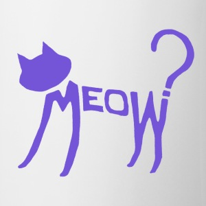 Meow? (Purple) Mugs  - Mug