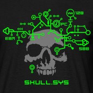 Design ~ Skull.sys neon green/grey with backprint