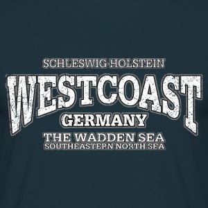 Westcoast west coast white print oldstyle - Männer T-Shirt