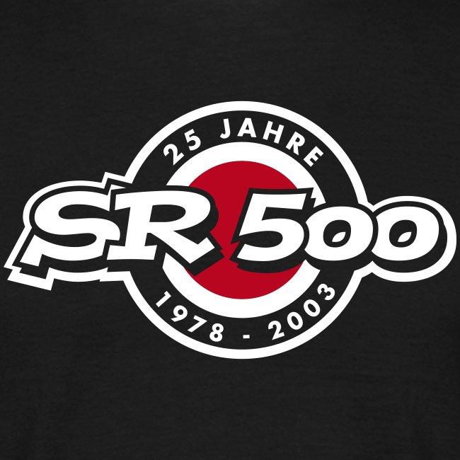 SR 500 Jubiläums T-Shirt, schwarz
