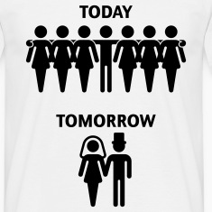 Today - Tomorrow (Junggesellenabschied / Stag Night) T-Shirt