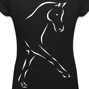 Dressage horse T-Shirts - Women's Scoop Neck T-Shirt