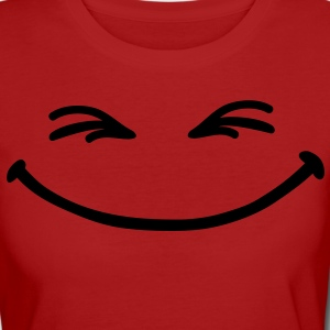 grin_face T-Shirts - Frauen Bio-T-Shirt