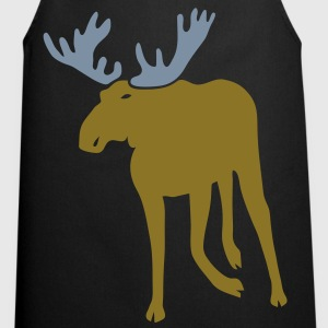stag deer moose elk antler antlers horn horns cervine hart hunter hunting forest scandinavia sweden norway  Aprons - Cooking Apron