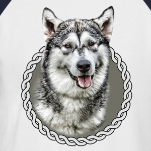Alaskan Malamute 001 T-Shirts - Men's Baseball T-Shirt