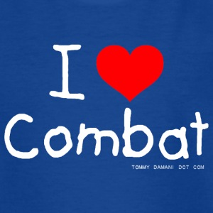 I Love Combat - White Font Shirts - Teenage T-shirt