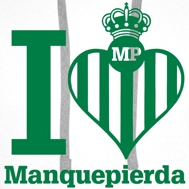 """Sudadera """"I Love Manquepierda"""" para Hombre"""