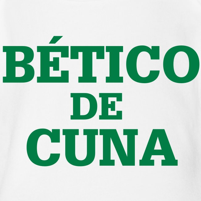 """Body Bebé """"BÉTICO de Cuna"""""""
