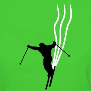 downhill ski stripes T-Shirts - Frauen Bio-T-Shirt