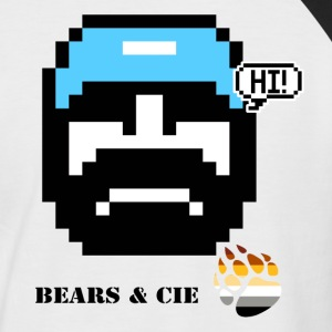 pixel art bears et compagnie blue bears Tee shirts - T-shirt baseball manches courtes Homme