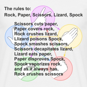 Rock, paper, scissors, lizard, Spock - Men's T-Shirt