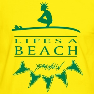 Life is a Beach Fotballfan-T-skjorte - Kontrast-T-skjorte for menn