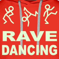Design ~ Rave Dancing Stick Figure Hoodie (Glow in the dark)