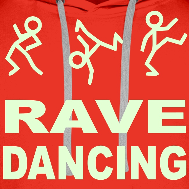 Rave Dancing Stick Figure Hoodie (Glow in the dark)