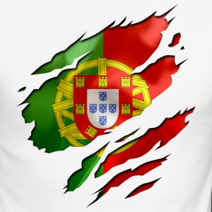 Blanc/rouge portugal Tee shirts manches longues - T-shirt baseball manches longues Homme