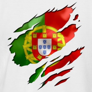 Blanc/rouge portugal Tee shirts - T-shirt baseball manches courtes Homme