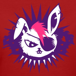 rabbit with an eye patch and a mohawk T-Shirts - Frauen Bio-T-Shirt