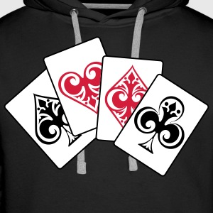 4 ACES...POKER!!! - Premium hettegenser for menn