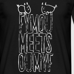 Fymou meets Oumyf (white outline print) - Männer T-Shirt