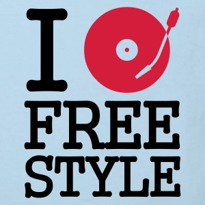 I dj / play / listen to freestyle :-: - Organic børne shirt