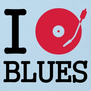 I dj / play / listen to blues :-: - Organic børne shirt