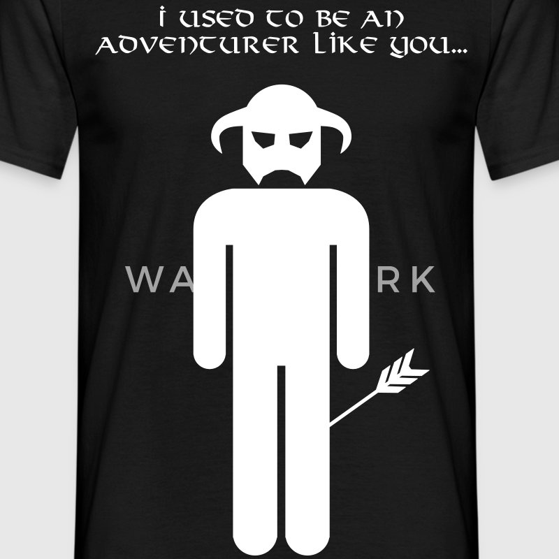 I used to be an adventurer like you... - Men's T-Shirt