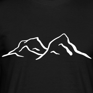 Montagnes Mont Ski escalader Tee shirts - T-shirt Homme