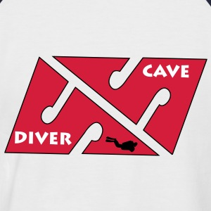 cave_diver_01 Tee shirts - T-shirt baseball manches courtes Homme