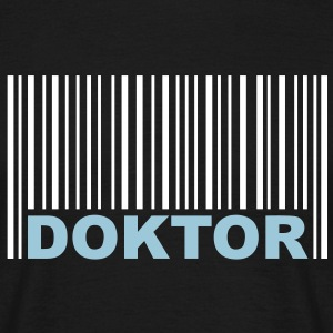 Doktor - Barcode - mortarboard - Present - University T-shirts - Herre-T-shirt