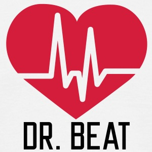 Dr Beat Heart | Herz T-Shirts - Herre-T-shirt