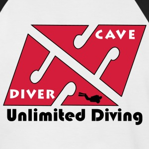 cave_diver_02 Tee shirts - T-shirt baseball manches courtes Homme