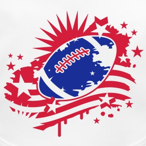 Football with an American flag, Stars and Stripes graffiti Accessories - Baby Organic Bib
