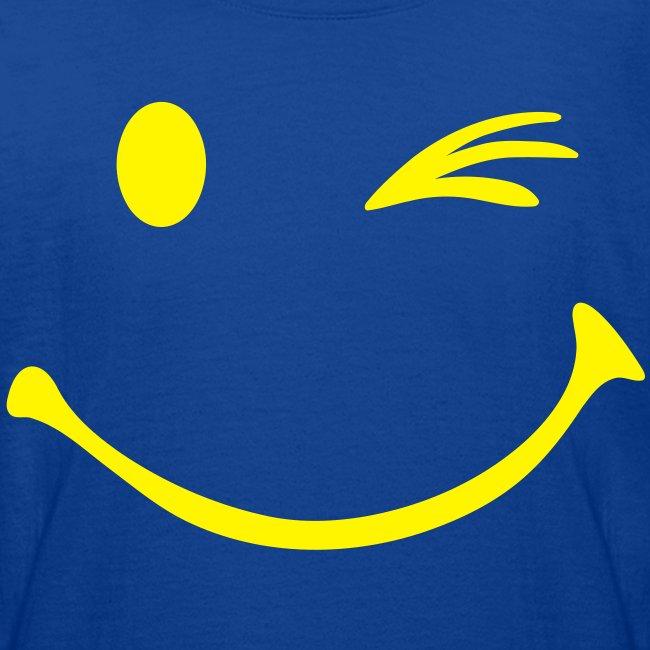 33819148ef5 Kinderen T-shirt met smiley opdruk met knipoog | Teenager T-shirt