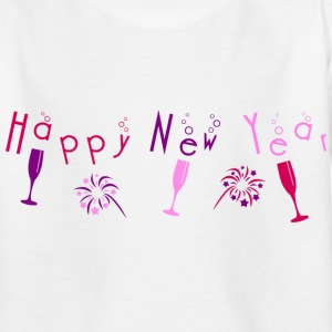 happy_new_year_bubble_champagne_fireworks Tee shirts Enfants - T-shirt Ado