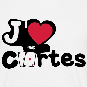 aime love carte paire as poker Tee shirts - T-shirt Homme