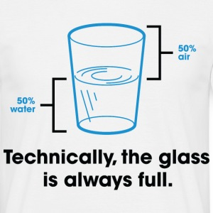 Glass Is Always Full 2 (dd)++ T-shirts - T-shirt herr