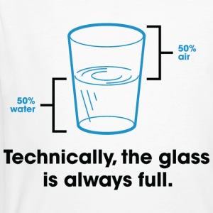 Glass Is Always Full 2 (dd)++ Camisetas - Camiseta ecológica hombre