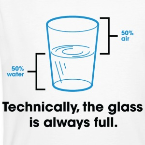 Glass Is Always Full 2 (dd)++ T-shirt - T-shirt ecologica da uomo