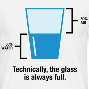 Glass Is Always Full 1 (dd)++ T-shirts - T-shirt herr