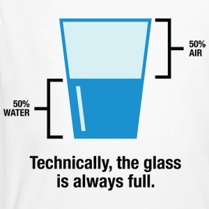 Glass Is Always Full 1 (dd)++ T-shirts - Mannen Bio-T-shirt