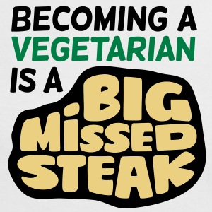 Big Missed Steak 1 (3c)++ Tee shirts - T-shirt contraste Femme