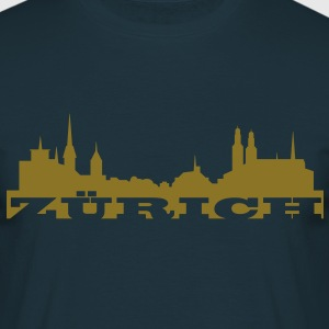 Zürich - Golden City - Männer T-Shirt
