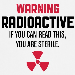 Warning Radioactive 1 (2c)++ Kookschorten - Keukenschort