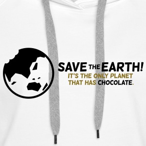 Save The Earth 1 (2c)++ Bluzy - Bluza damska Premium z kapturem